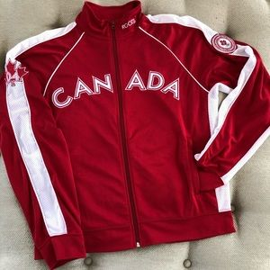 Roots Canada Olympic 2004 Full Zip Warmup Jacket L